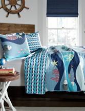 Lush Decor 2-pc. Blue Sea Life Quilt Set