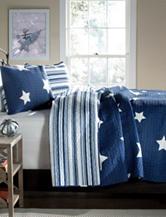 Lush Decor 3-pc. Navy Star Quilt Set