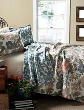 Lush Decor 3-pc. Blue & Green Sydney Floral Quilt Set