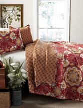Lush Decor 3-pc. Red Addington Paisley Quilt Set