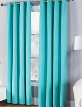 Fiesta® Solid Twill Collection Single Curtain Panel – Turquoise