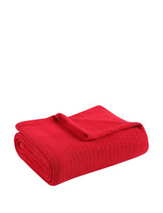 Fiesta® Scarlet Red Cotton Blanket