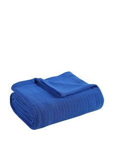 Fiesta® Lapis Blue Cotton Blanket