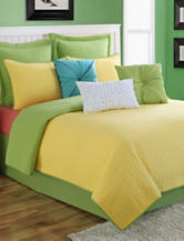 Fiesta® Dash Reversible Yellow & Green Quilt Set
