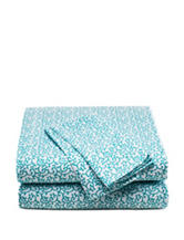 Style Lounge Blue Swirl Print Sheet Set