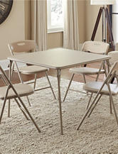 Cosco 5-pc. Light Brown Square Table Set