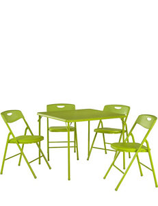 Cosco 5-pc. Apple Green Square Table Set