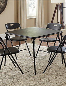 Cosco 5-pc. Black Square Table Set