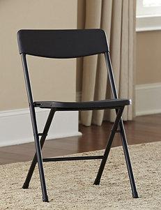 Cosco 4-pc. Resin X Fold Black Chair
