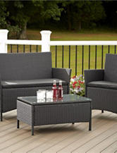 Cosco 4-pc. Black Jamaica Wicker Set
