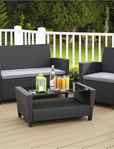Cosco 4-pc. Black & Grey Malmo Wicker Set