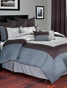 Hotel By Lavish Home 10-pc. Grey Comforter Set