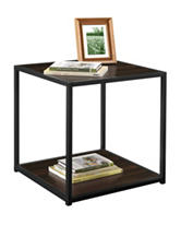 Altra Espresso End Table with Metal Frame
