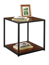 Altra Cherry End Table with Metal Frame