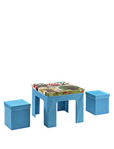Cosco Blue Ottomans & Benches Living Room Furniture