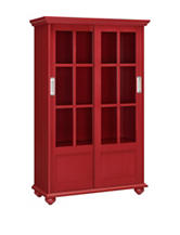 Altra Red Arron Lane Bookcase with Sliding Glass Doors