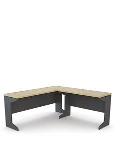 Altra Benjamin L Desk Bundle: Credenza and Bridge