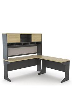 Altra Benjamin L Desk with Hutch