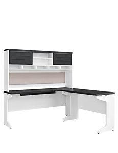 Altra Pursuit L Desk with Hutch