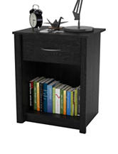 Ameriwood Ebony Ash Rockbridge Night Stand