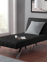 DHP Emily Chaise Lounger Black