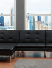 DHP Chelsea Faux Leather Chair Black
