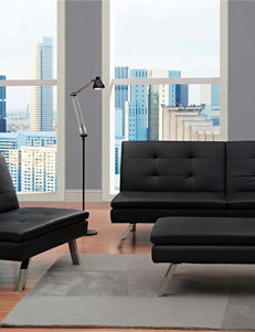 Dorel Black Ottomans & Benches Living Room Furniture