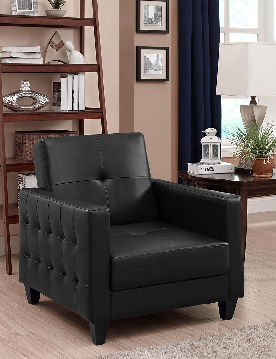 Dorel Black Accent Chairs Living Room Furniture