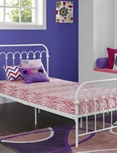 Signature Sleep CertiPUR-US Memory Foam Youth Twin Mattress Pink Zebra