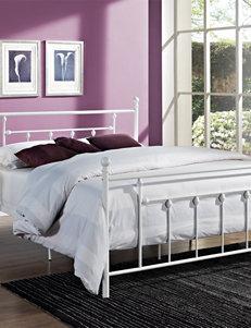 DHP Manila Full Metal Bed Frame White