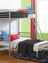 DHP Twin Loft Bed Silver