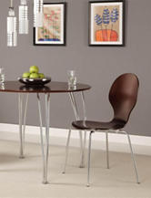DHP2-pc. Shell Bentwood Chairs Brown