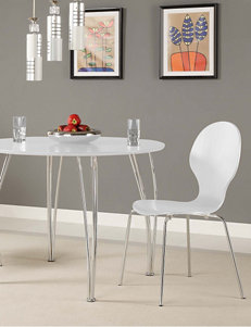 DHP 2-pc. Shell Bentwood Chairs White