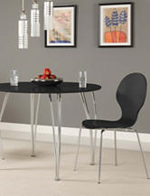 DHP 2-pc. Shell Bentwood Chairs Black