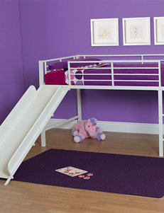 DHP Twin Loft Bed with Slide White