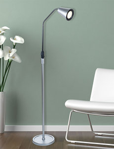 Lavish Home Silver Floor Lamps Lighting & Lamps