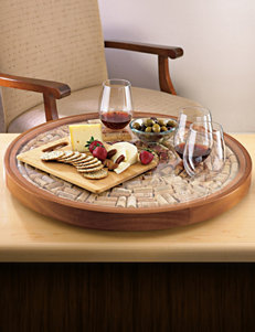 Wine Enthusiast Brown Serving Platters & Trays Serveware