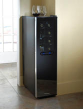 Wine Enthusiast Silent 18 Bottle Dual Zone Wine Cooler Slimline with Upright Bottle Storage