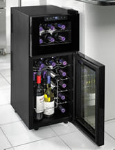 Wine Enthusiast Silent 21 Bottle Dual Zone Touchscreen Wine Cooler