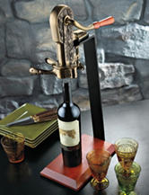 Wine Enthusiast Legacy Corkscrew with Birch Stand