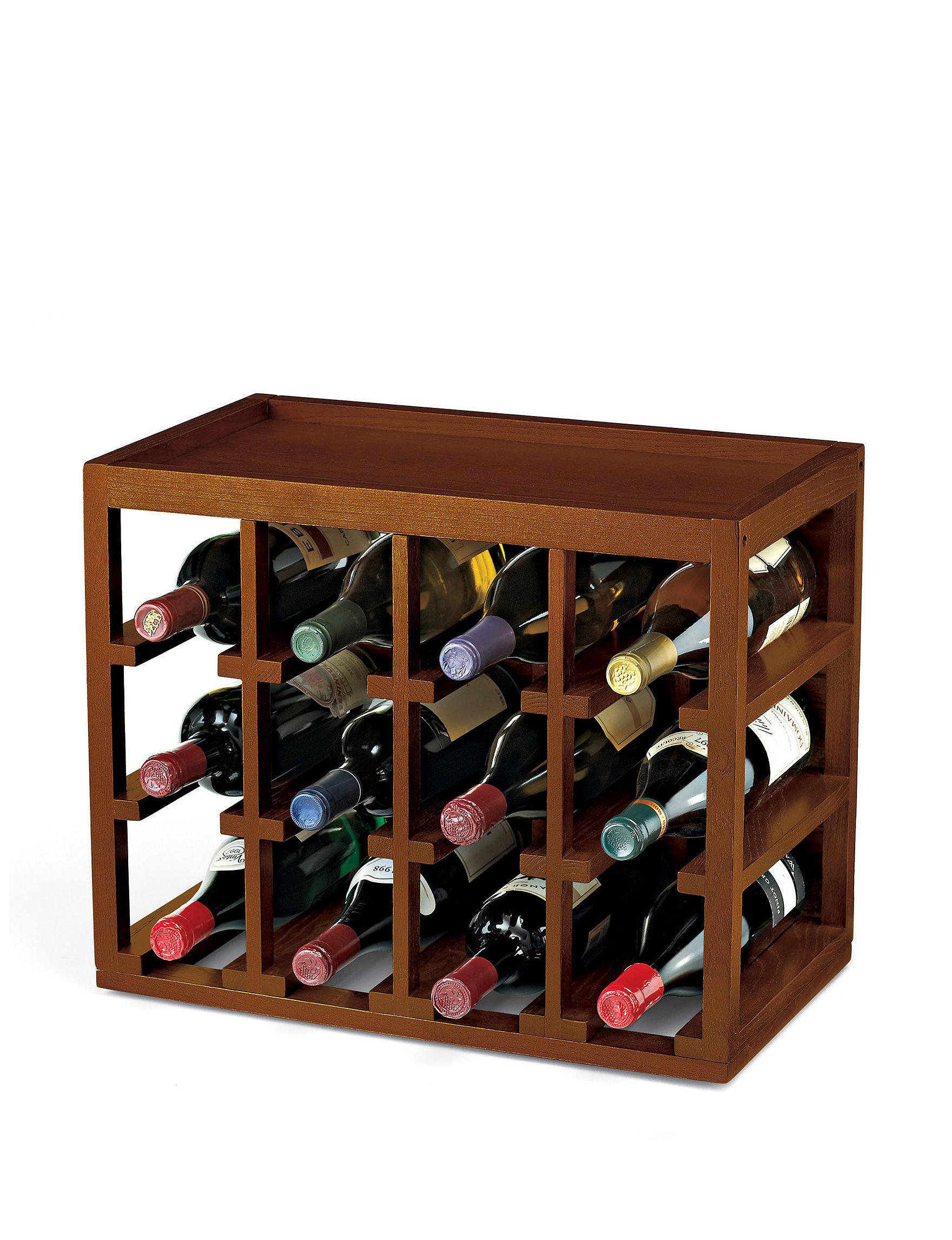 Wine Enthusiast Dark Brown Wine Racks Bar Accessories