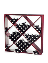 Wine Enthusiast Mahogany Jumbo Bin 120 Bottle Wine Rack