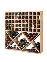 Wine Enthusiast Jumbo Bin Grid 100 Bottle Wine Rack