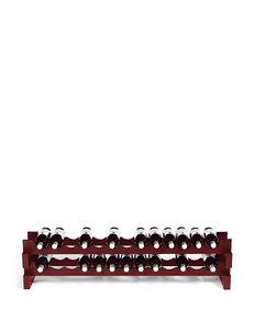 Wine Enthusiast Burgandy Wine Racks Bar Accessories