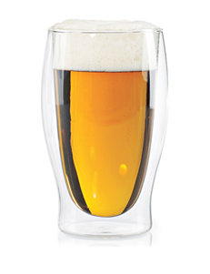 Wine Enthusiast Silver Beer Glasses Drinkware