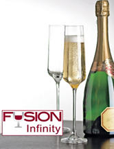 Wine Enthusiast 4-pc. Fusion Infinity Champagne Flutes