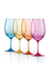 Wine Enthusiast 4-pc. Indoor/Outdoor Mixed Color Wine Glasses