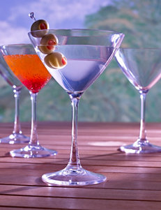 Wine Enthusiast 4-pc. Indoor/Outdoor Martini Glasses