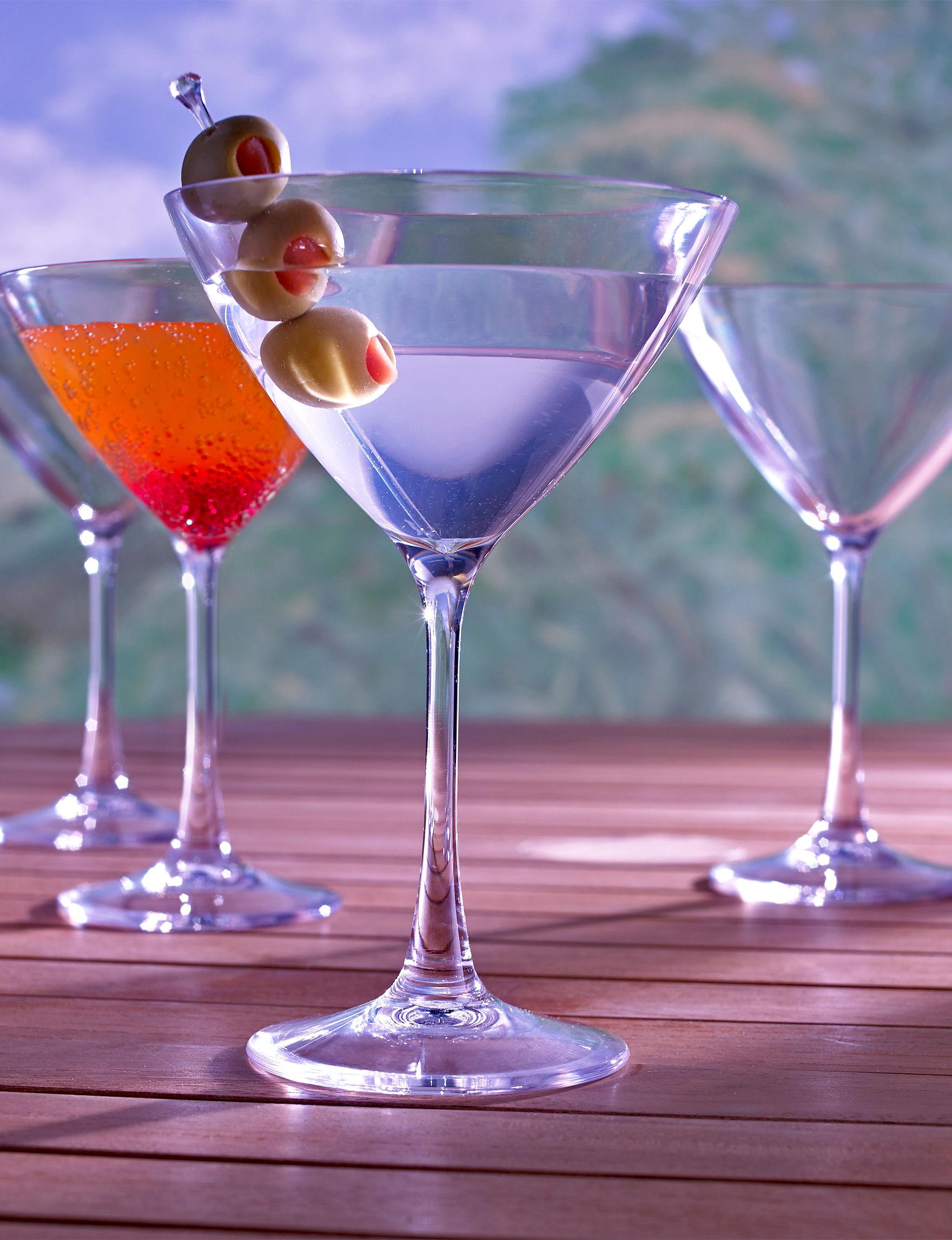 Wine Enthusiast Silver Cocktail & Liquor Glasses Drinkware