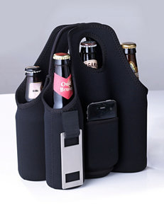 Wine Enthusiast Neoprene 6 Bottle Beer Carrier